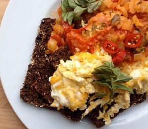 Mexicaans ontbijt met eieren