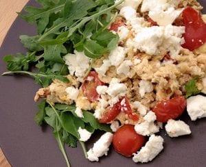 Roerei met tomaten en Fetakaas