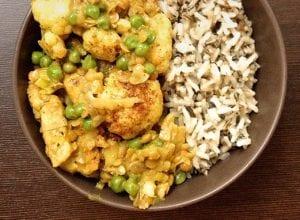 Kip curry met rode linzen