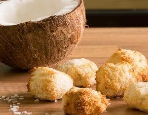 Makarons van de kokosnoot